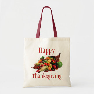 Happy Thanksgiving Horn of Plenty Cornucopia Fall Bags