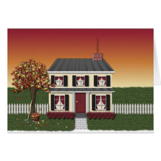 Happy Thanksgiving House Card