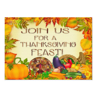 Happy Thanksgiving Invitations