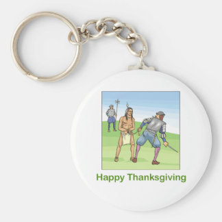 Happy Thanksgiving Keychain