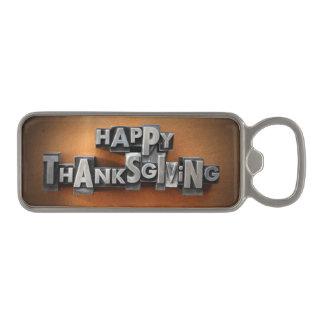 Happy Thanksgiving Magnetic Bottle Opener