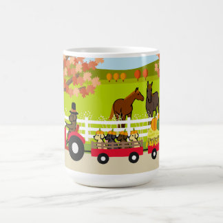 Happy Thanksgiving Labradors and Tractor Coffee Mug