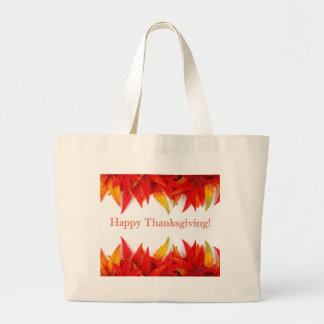 Happy Thanksgiving! Large Tote Bag