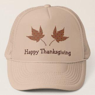 Happy Thanksgiving Leaf Cap
