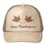 Happy Thanksgiving Leaf Cap Trucker Hat