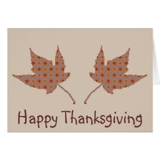 Happy Thanksgiving Leaf Card