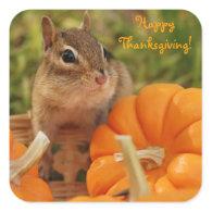 Happy Thanksgiving Little Chipmunk Sticker