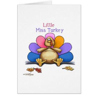 Happy Thanksgiving Little Miss Turkey Card