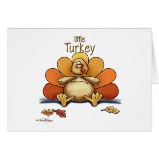 Happy Thanksgiving Little Turkey Card at Zazzle