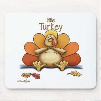 Happy Thanksgiving Little Turkey Mouse Pad