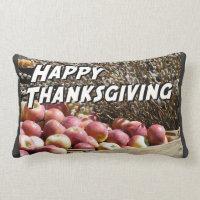 Happy Thanksgiving Lumbar Pillow
