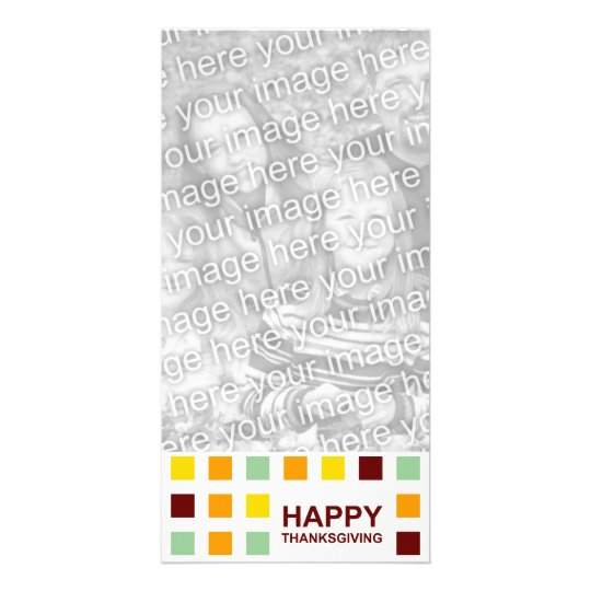 happy thanksgiving (mod squares) card