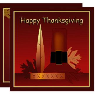 Happy Thanksgiving Modern Pilgrim & Indian Card
