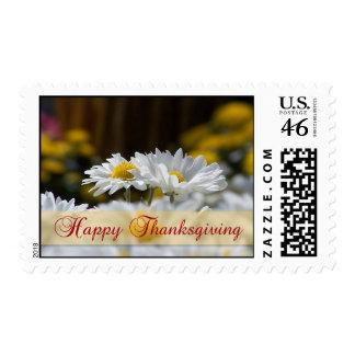 Happy Thanksgiving Mums Stamp