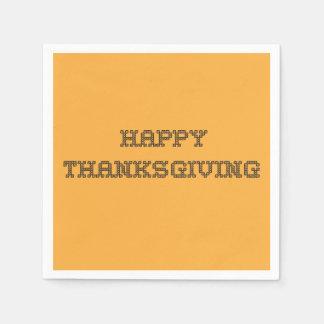 Happy Thanksgiving Napkins