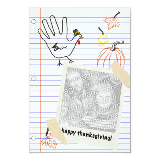 happy thanksgiving! notebook sketches 3.5x5 paper invitation card