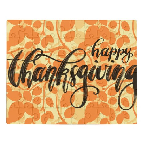 Happy Thanksgiving on Autumn Leaves Jigsaw Puzzle - 110 Pieces