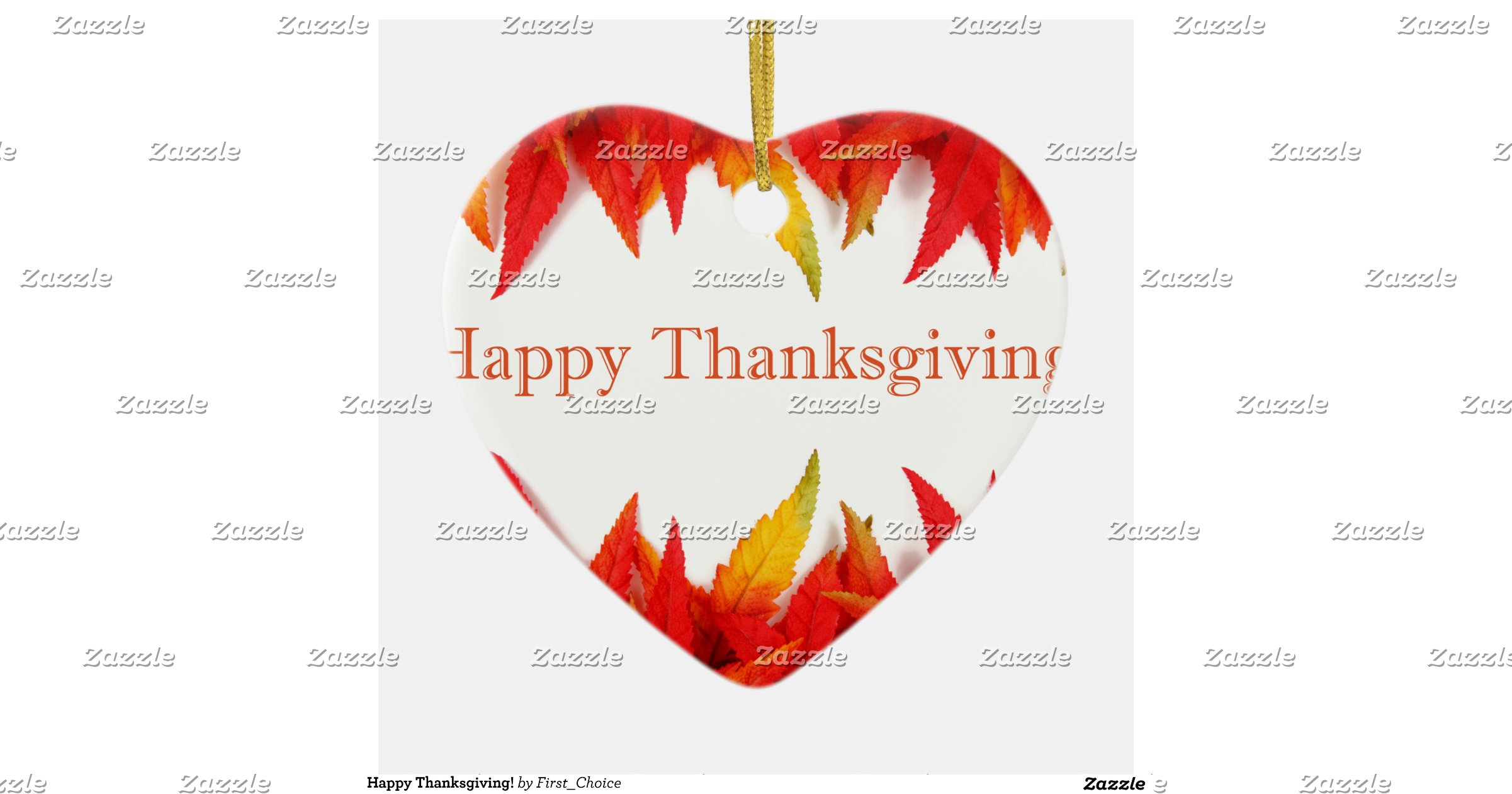 Thanksgiving double sided heart ceramic christmas ornament zazzle
