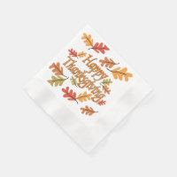 Happy Thanksgiving Paper Napkin