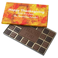 Happy Thanksgiving Personalized Chocolate Box 45 Piece Assorted Chocolate Box