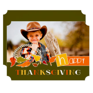 Happy Thanksgiving. Personalized Photo Cards