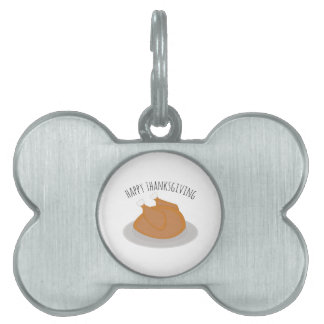 Happy Thanksgiving Pet Tags