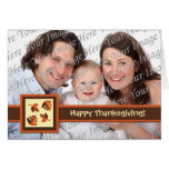 Happy Thanksgiving Photo Folded Greeting Card