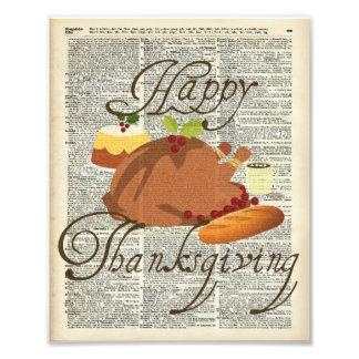 Happy Thanksgiving Photo Print
