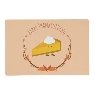 Happy Thanksgiving Pie Slice | Laminated Placemat