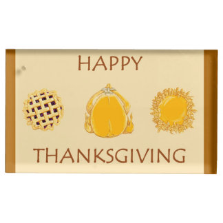 Happy Thanksgiving Pies & Turkey place card holder