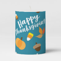 Happy Thanksgiving Pillar Candle