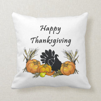 Happy Thanksgiving Throw Pillows