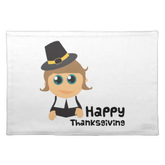 Happy Thanksgiving Cloth Placemat