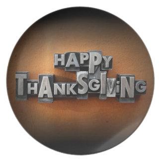 Happy Thanksgiving Plates