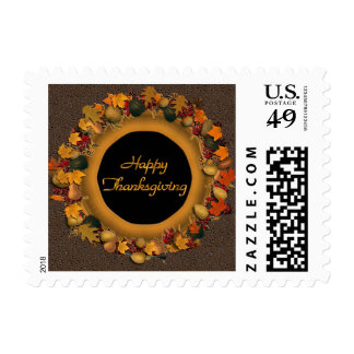 Happy Thanksgiving Postage Stamp