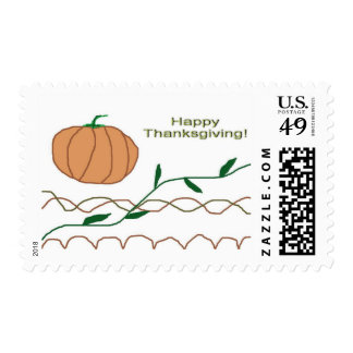 Happy Thanksgiving Postage Stamps