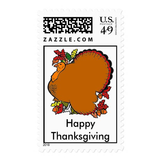 Happy Thanksgiving! Postage Stamps