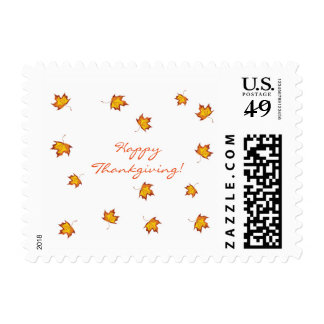 Happy Thanksgiving Postal Stamp. Postage
