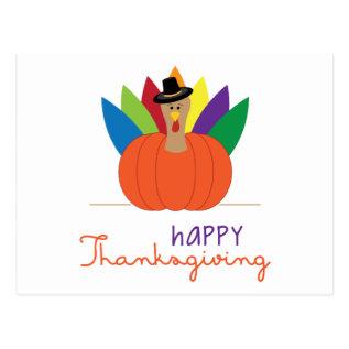 Happy Thanksgiving Postcard at Zazzle