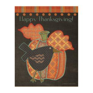 Thanksgiving Wood Wall Art Zazzle