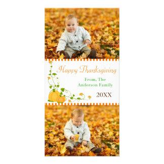 Happy Thanksgiving Pumpkin 2 Photos - Photo Card