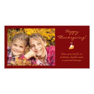 Happy Thanksgiving Pumpkin Pie Photo Card