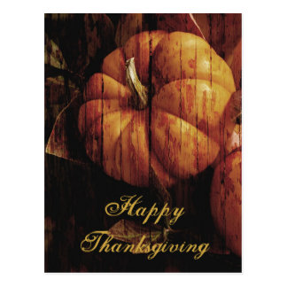 Happy Thanksgiving Pumpkin Postcard