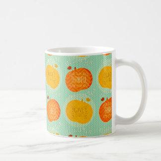 Happy Thanksgiving Pumpkin Rustic Coffee Mug