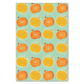 Happy Thanksgiving Pumpkin Rustic Tissue Paper
