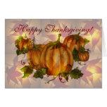 HAPPY THANKSGIVING PUMPKINS by SHARON SHARPE Greeting Card