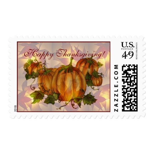 HAPPY THANKSGIVING PUMPKINS by SHARON SHARPE Postage