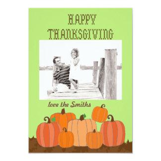 Happy Thanksgiving pumpkins photo card