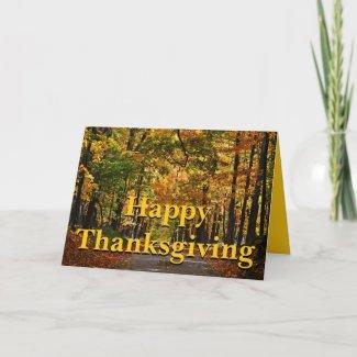 Happy Thanksgiving: Ralph Waldo Emerson Poem Greeting Card