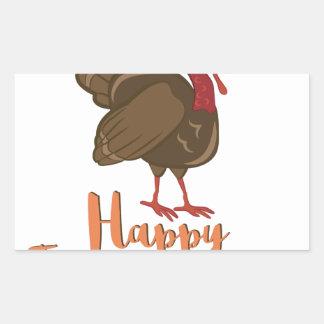 Happy Thanksgiving Rectangular Sticker